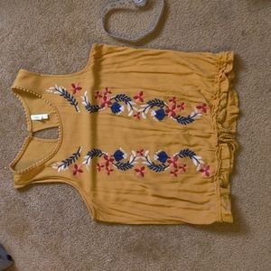 Xhilaration Embroidered Floral Top